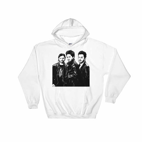 30 seconds to mars White Hoodie Sweater (Unisex)