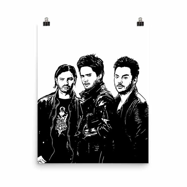 30 seconds to mars Art Poster (6 sizes) // Babes & Gents // www.babesngents.com