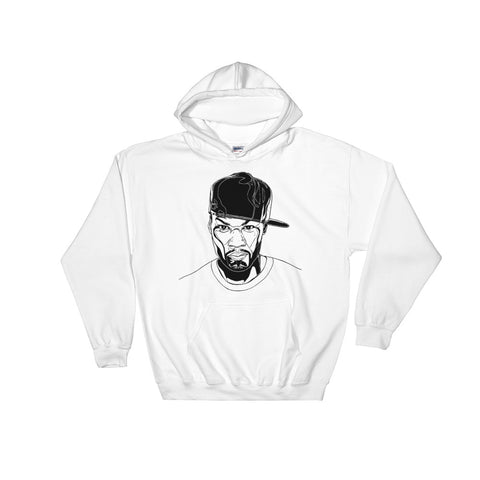 50 cent White Hoodie Sweater (Unisex)