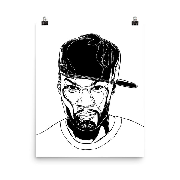 50 cent Art Poster (8x10 to 24x36) // Babes & Gents // www.babesngents.com