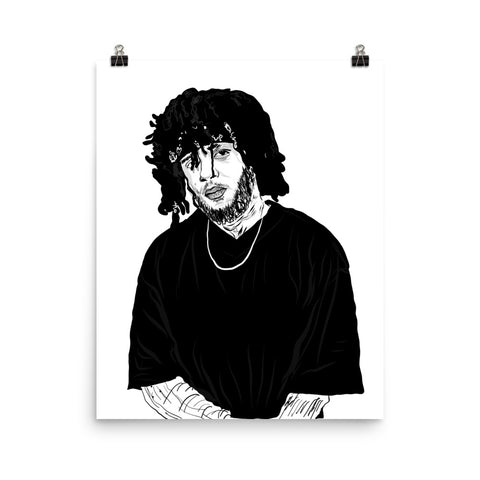 6lack Art Poster (8x10 to 24x36)
