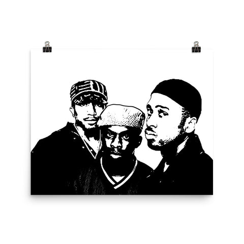 A Tribe Called Quest Art Poster (8x10 to 24x36)