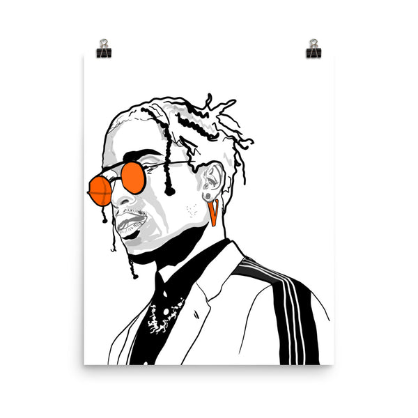 A$AP ASAP Rocky Vlone Poster (8x10 to 24x36), Babes & Gents