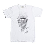 Babes & Gents COOL Tee (White) designed by Nicholas Obery. Handcrafted in Canada. Now available on www.babesngents.com
