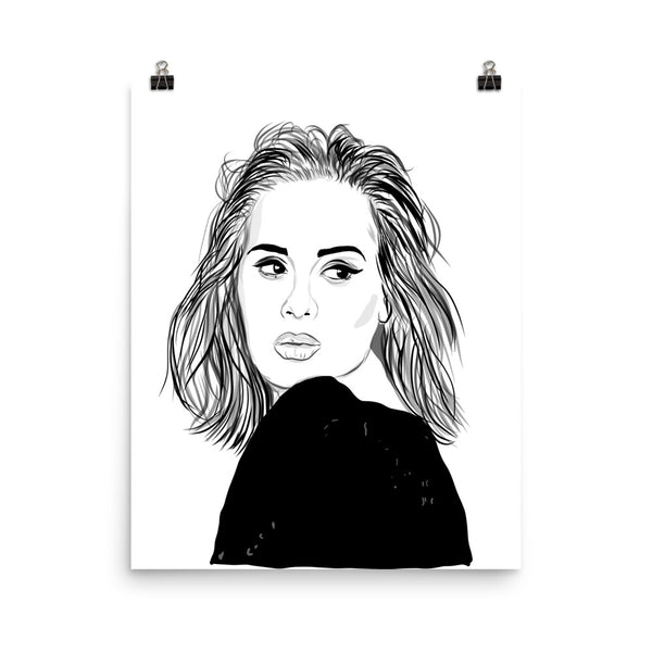 Adele Art Poster (6 sizes) // Babes & Gents // www.babesngents.com