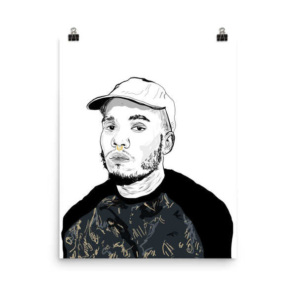 Anderson .Paak Art Poster (6 sizes) // Babes & Gents // www.babesngents.com