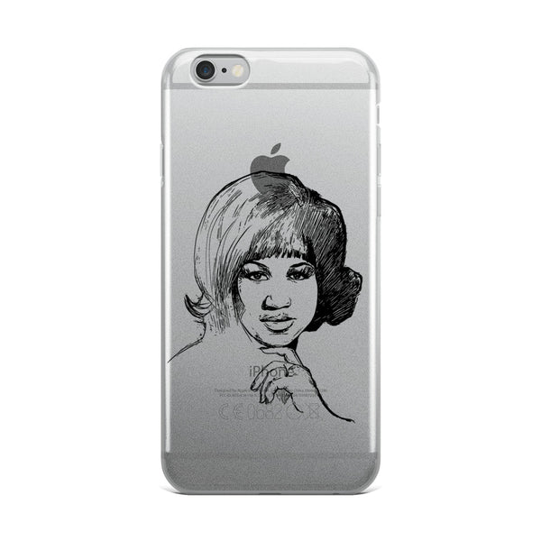 Aretha Franklin Apple IPhone Case  // Babes & Gents // www.babesngents.com