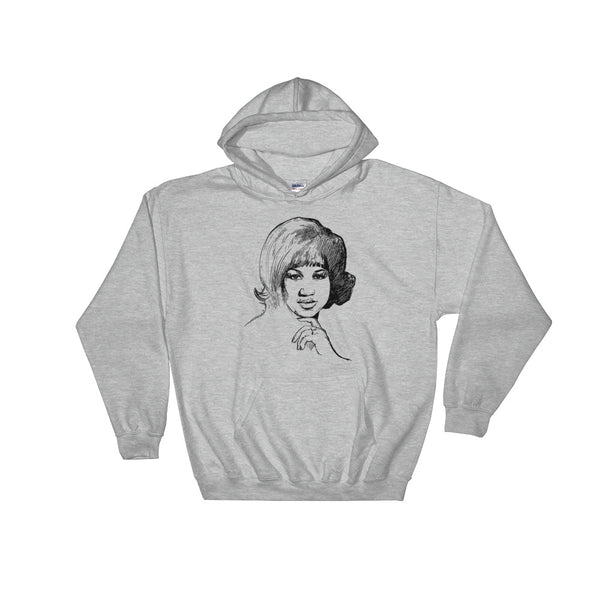 Aretha Franklin Grey Hoodie Sweater (Unisex), Babes & Gents, Ottawa