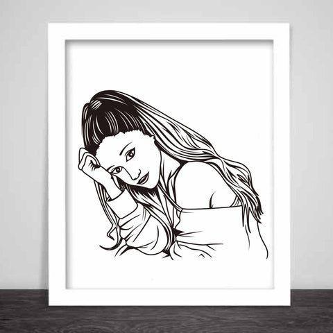 Ariana Grande Art Poster (3 sizes) // Moonlight problem Focus My Everything