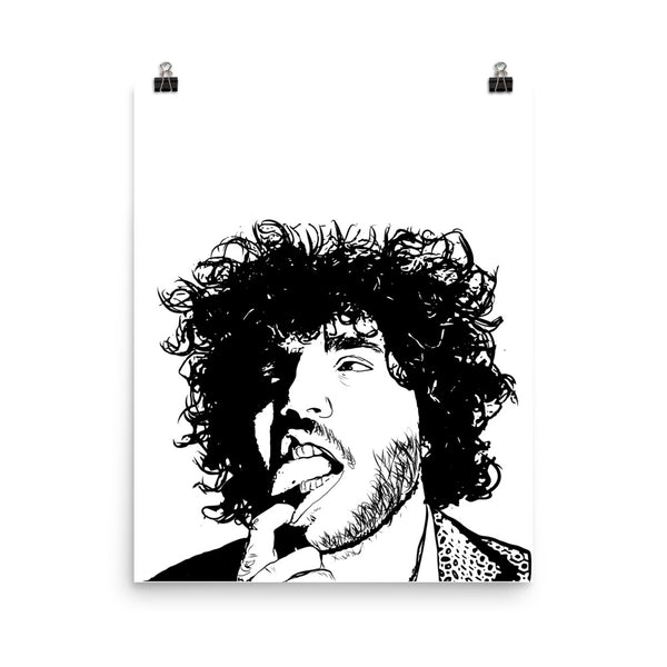 Benny Blanco 11x17 Art Poster, Babes & Gents, www.babesngents.com