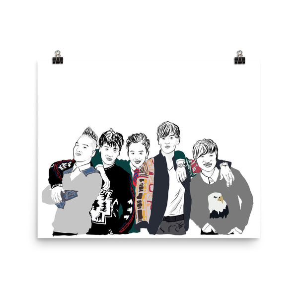 Big Bang Art Poster (6 sizes) // Babes & Gents // www.babesngents.com