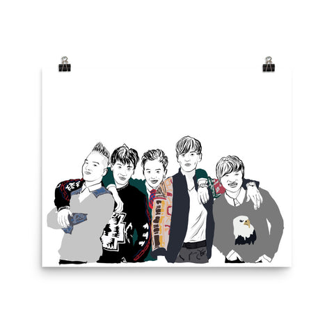 BIG BANG 11x17 Art Poster
