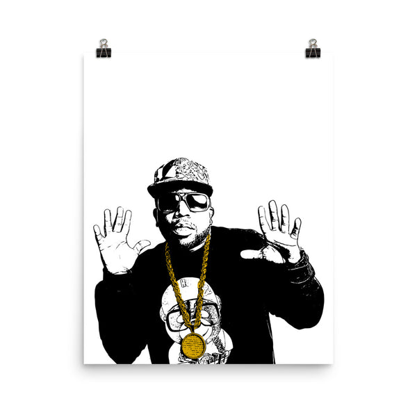 Big Boi Art Poster (8x10 to 24x36) // Babes & Gents // www.babesngents.com