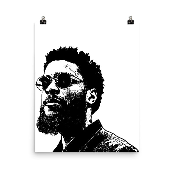 Big K.R.I.T Art Poster (6 sizes) // Babes & Gents // www.babesngents.com