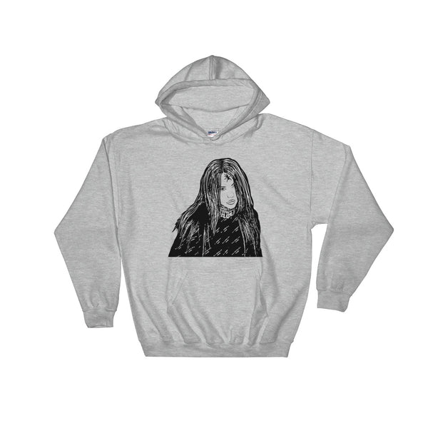 Billie Eilish Grey Hoodie Sweater (Unisex), Babes & Gents, Ottawa