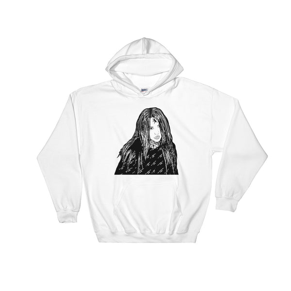 Billie Eilish White Hoodie Sweater (Unisex), Babes & Gents, Ottawa