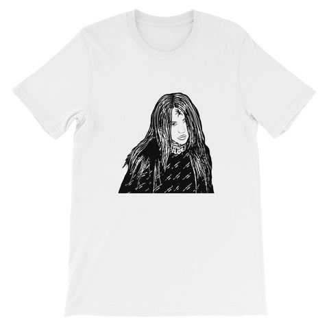 Billie Eilish White Tee (Unisex)