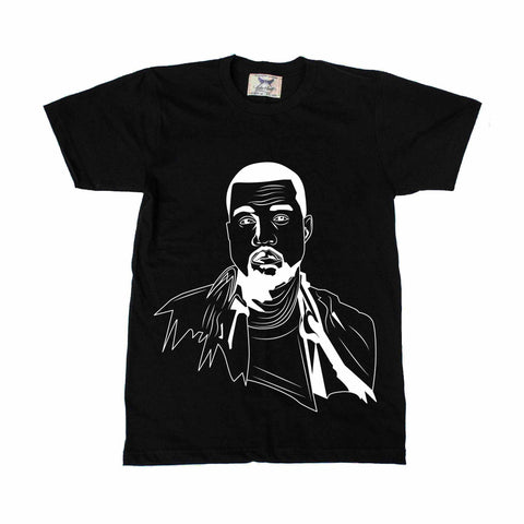 Kanye West Yeezy Black Tee // swish yeezus tour allday
