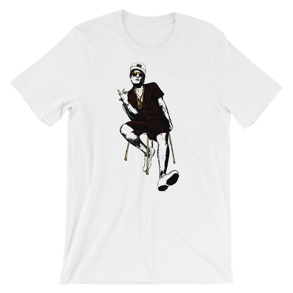 Bruno Mars White Tee (Unisex) // T-shirt // Babes & Gents // www.babesngents.com