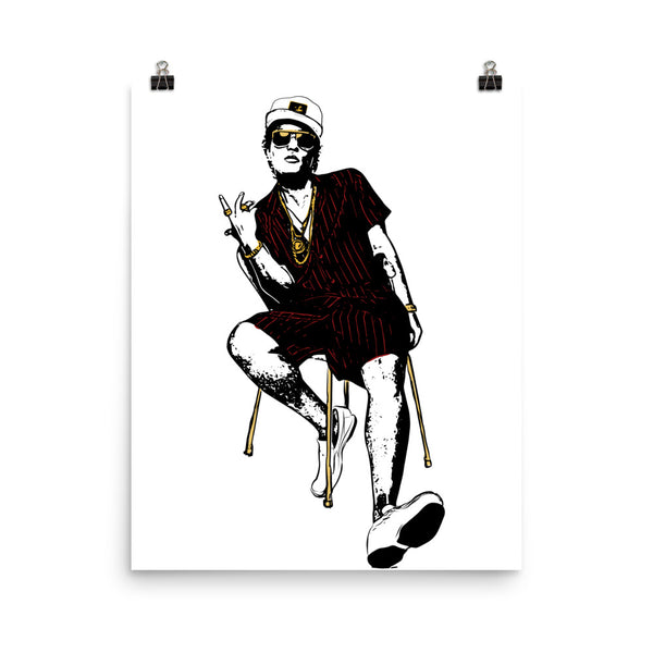 Bruno Mars Art Poster (8x10 to 24x36) // Babes & Gents // www.babesngents.com