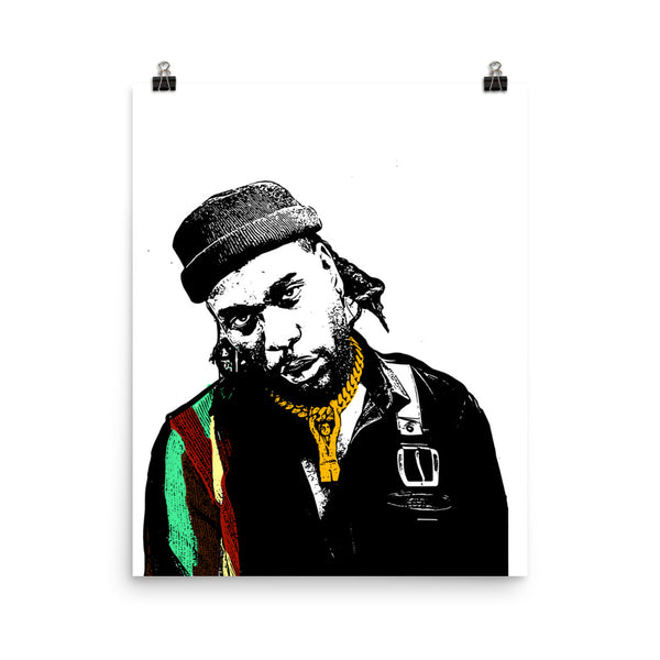 Burna Boy Art Poster (8x10 to 24x36) // Babes & Gents // www.babesngents.com