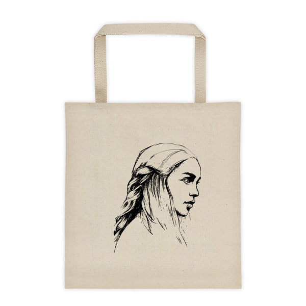 Emilia Clarke Game of Thrones Khaleesi Mother of Dragons  Canvas Tote Bag, Babes & Gents, www.babesngents.com