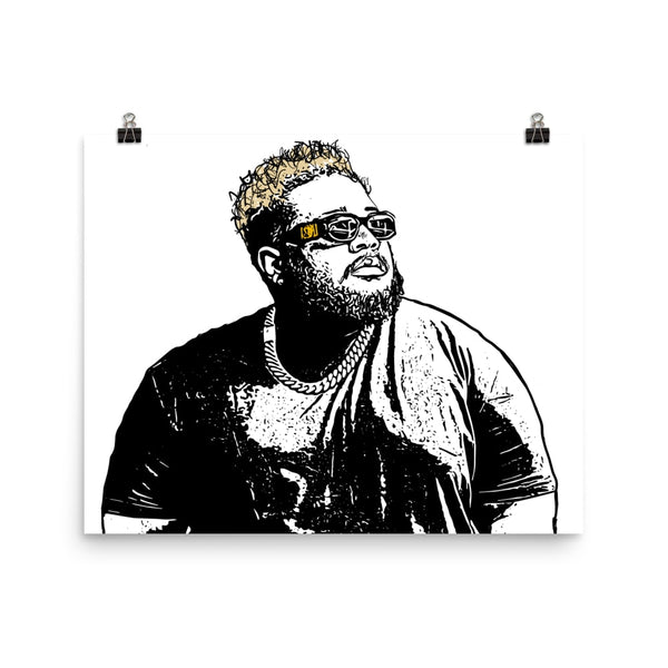 DJ Carnage Art Poster (6 sizes) // Babes & Gents // www.babesngents.com