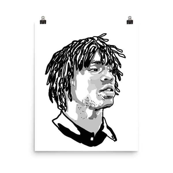 Chief Keef Art Poster (6 sizes) // Babes & Gents // www.babesngents.com