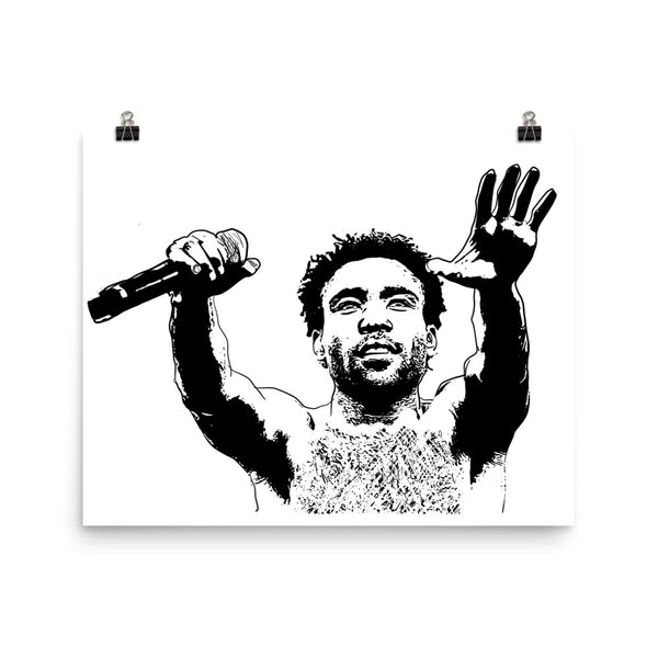 Childish Gambino 2 Art Poster (8x10 to 24x36) // Babes & Gents // www.babesngents.com