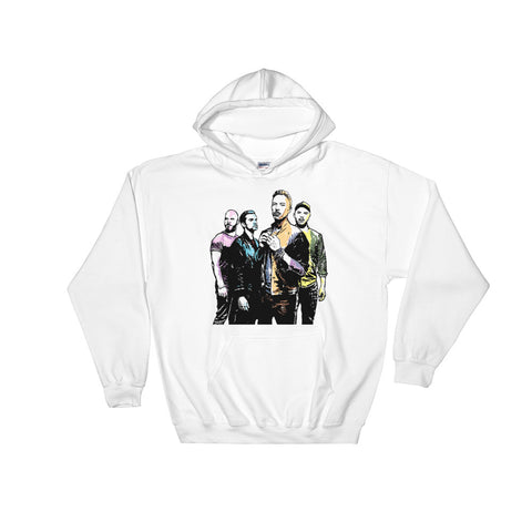 Coldplay 2 White Hoodie Sweater (Unisex)