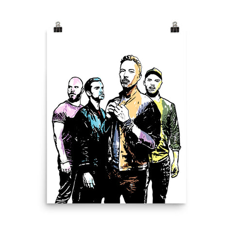 Coldplay 2 Art Poster (8x10 to 24x36)