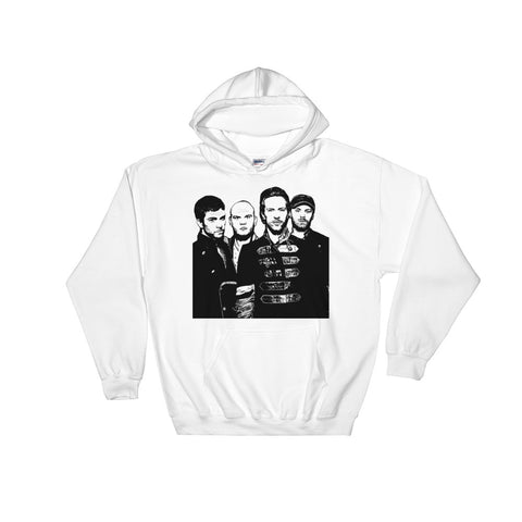 Coldplay 1 White Hoodie Sweater (Unisex)