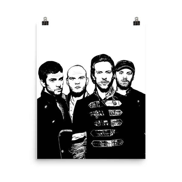 Coldplay 1 11x17 Art Poster, Babes & Gents, www.babesngents.com