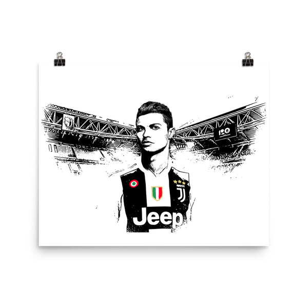 Cristiano Ronaldo Juventus 11x17 Art Poster, Babes & Gents, www.babesngents.com