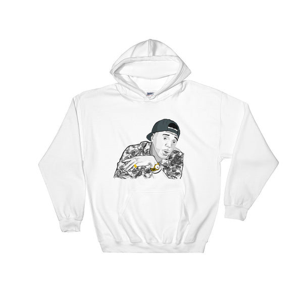 Curren$y White Hoodie Sweater (Unisex), Babes & Gents, Ottawa