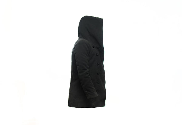 Oversize Hood double breasted Jacket (unisex) // BLACK LABEL Collection // Streetwear Fashion | ZARGARA X Babes & Gents | www.babesngents.com