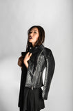 "Quilted Leather Cropped Biker Jacket (Female) // Zargara Season 4 ""The Flower Rises"" // www.zargara.com"