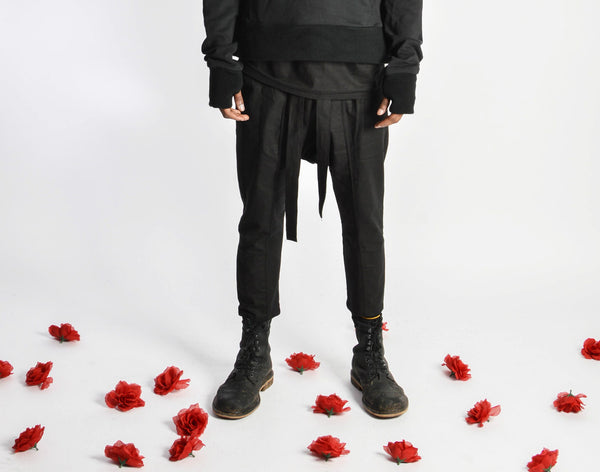 "Wrapped Drop Crotch Pants (Unisex) // Zargara Season 4 ""The Flower Rises"" // www.zargara.com"