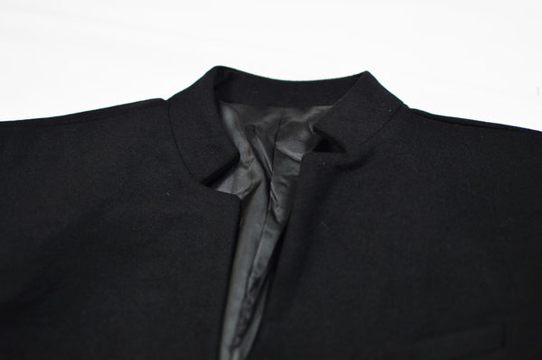 Collarless One Button Blazer (Unisex)