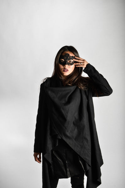 "Dark Knight Avant Garde Collar Cardigan (Unisex) // Zargara Season 4 ""The Flower Rises"" // www.zargara.com"