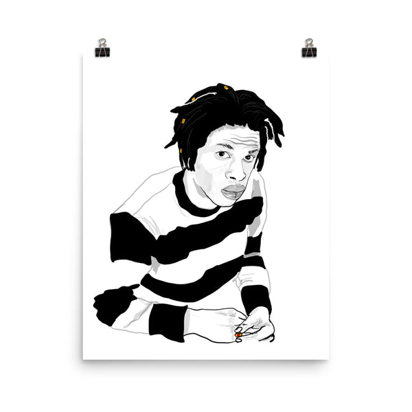 Daniel Caesar Art Poster (6 sizes) // Babes & Gents // www.babesngents.com