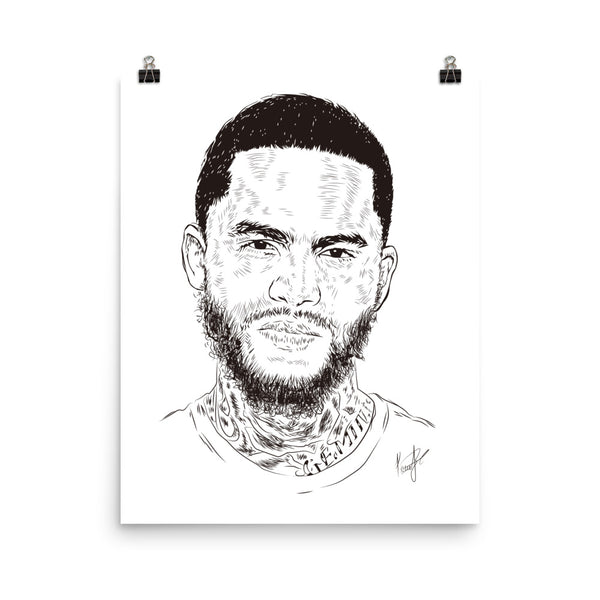 Dave East Art Poster (6 sizes) // Babes & Gents // www.babesngents.com
