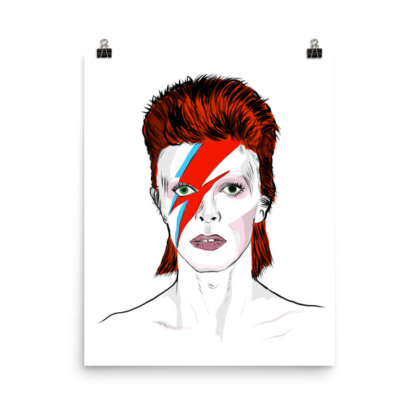 David Bowie Art Poster (6 sizes) // Babes & Gents // www.babesngents.com