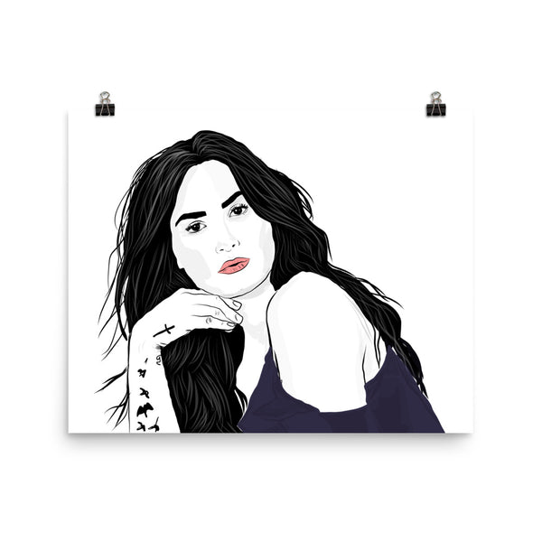 Demi Lovato Art Poster (6 sizes) // Babes & Gents // www.babesngents.com