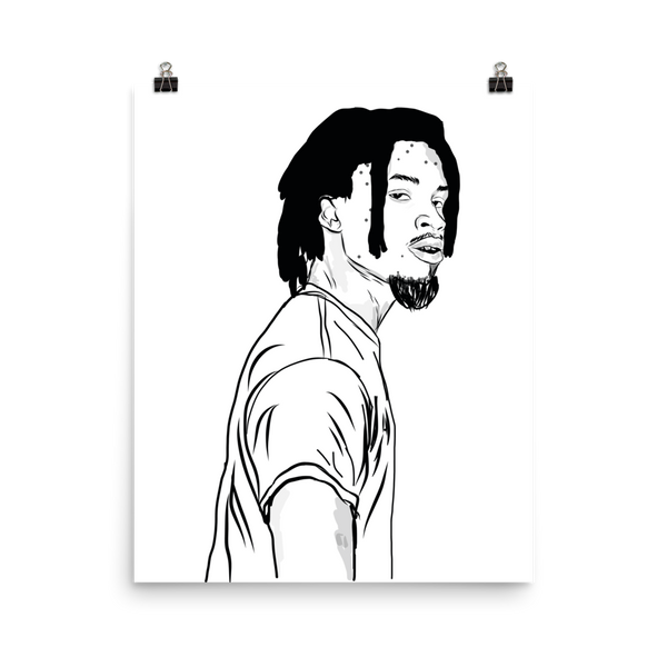 Denzel Curry Art Poster (6 sizes) // Babes & Gents // www.babesngents.com
