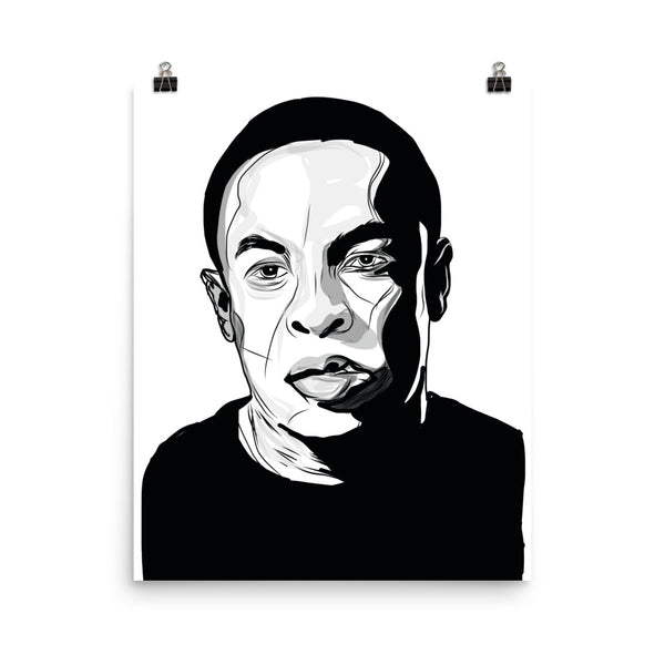 Dr Dre Art Poster (6 sizes) // Babes & Gents // www.babesngents.com