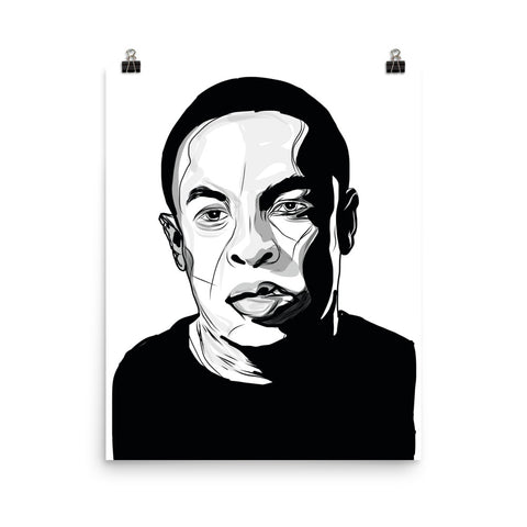 Dr Dre Art Poster (8x10 to 24x36)