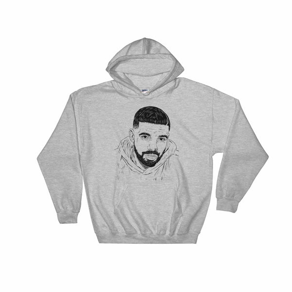 Drake 6 God Grey Hoodie Sweater (Unisex) , Babes & Gents, Ottawa