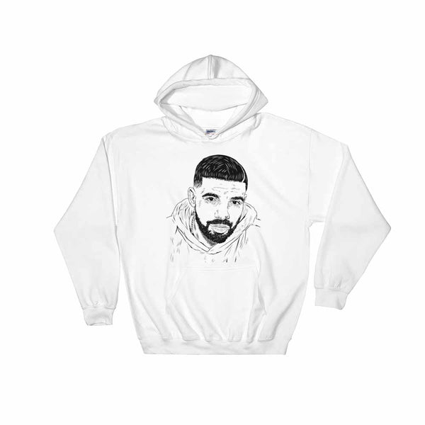 Drake 6 God White Hoodie Sweater (Unisex) , Babes & Gents, Ottawa