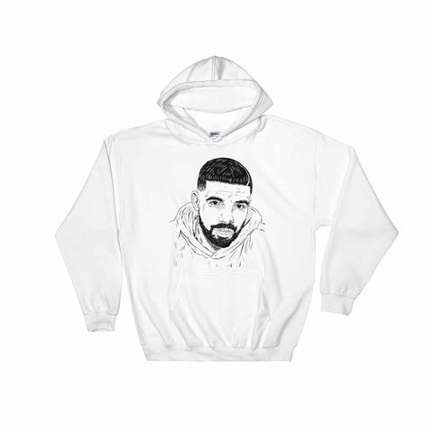 Drake 6 God White Hoodie Sweater (Unisex)
